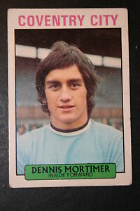 Coventry City   Dennis Mortimer    1970's Vintage Footballer Card