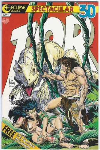 TOR by Joe Kubert #1 & #2 - Spectacular 3D – Glass Included - MINT