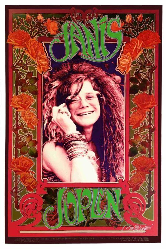 Janis Joplin Poster Original Litho Family Commission Hand-Signed Bob Masse COA