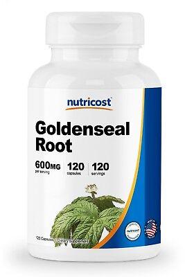 Nutricost Goldenseal Root 600mg, 120 Capsules - Non-GMO, Gluten Free, Veggie Cap 600 Mg 120 Veggie Caps