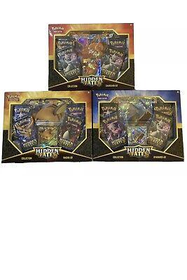 Pokemon Hidden Fates Lot Charizard Gyarados Raichu GX Collection Box Sealed New!