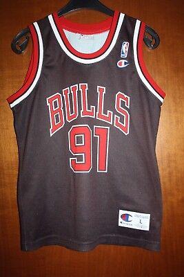 Maglia Shirt Trikot Jersey Dennis Rodman Chicago Bulls Vintage Basketball  NBA usato Bisnate db0870c12f59