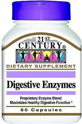 21St Century Digestive Enzymes Capsules 60 Ea