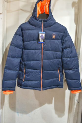 Spyder Youth boys M(10/12) , L (14/16 )Coat Jacket Blue and Orange