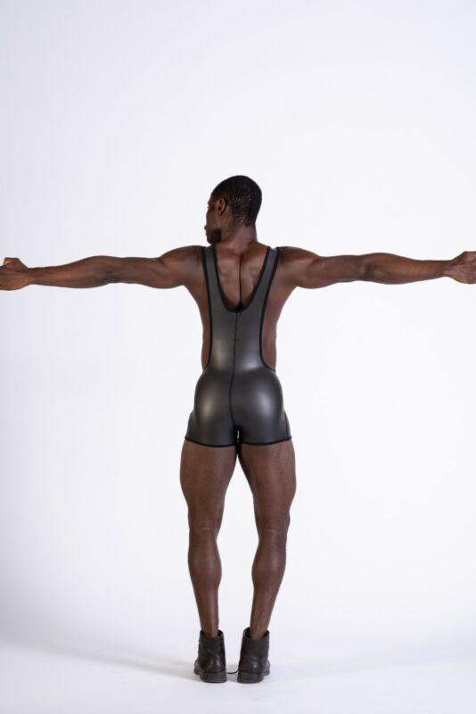 Ringerbody mit kurzen Beinen Neopren Ringer Body NEU GAY Sportbody Fetisch