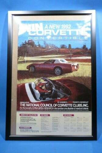 "Chevrolet Showroom Poster Win a 1992 C4 Corvette Convertible  22"" x 34"""