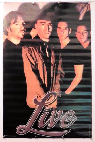 """LIVE group rare Vintage poster ALL 4 POSED   22.25"""" X 34.50"""" NOS (b141)"""