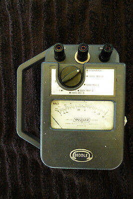 James G. Biddle 21159 Megger Tester Leads And Instruction Manual