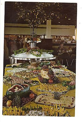 Vintage Postcard Illinois Tollway Fred Harvey Restaurant Top Of The Tollway