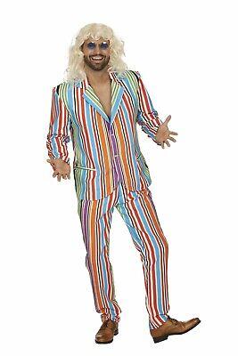 Kostüm gestreifter Anzug Shaggy Retro Party Schlager Gr.46/48 Karneval Fasching