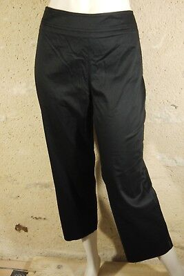 �s joli pantalon noir femme en coton black trousers hose (Hose Pantalons)