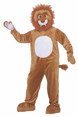 Leo The Lion Plush Mascot Adult Costume King Of Jungle Funny Animal Theme Party