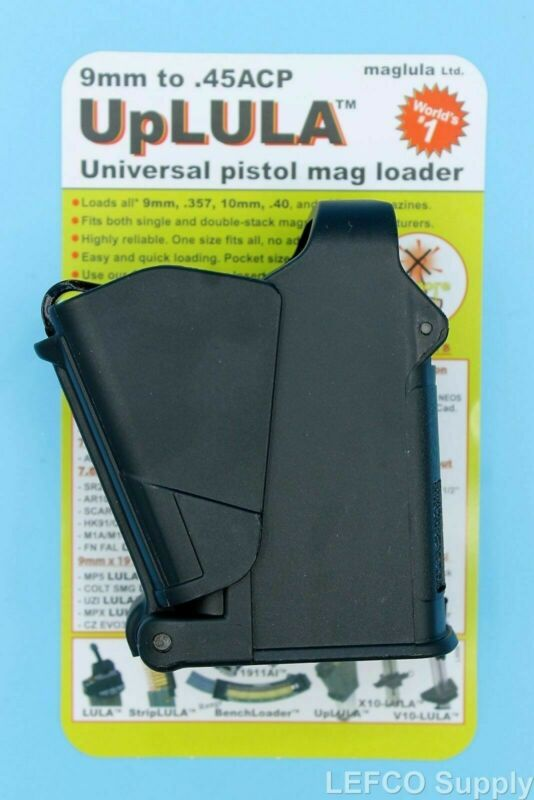 FREE SHIP NEW Universal Magazine Speed Loader 9mm to 45acp UP60B Black