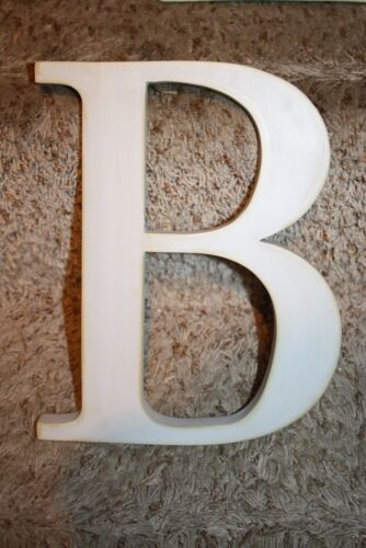 """Pottery Barn Kids 8 Inch White Ivory Wooden Wall Letters """"B"""""""