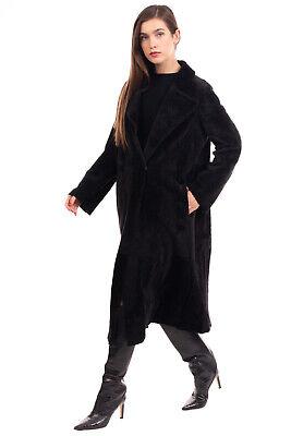 RRP €4500 YVES SALOMON Shearling Coat Size 40 / L Reversible Longline Collared