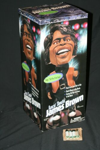 "DANCING & SHOUTING JAMES BROWN ANIMATED 19"" DOLL SINGS I GOT YOU (I FEEL GOOD)"