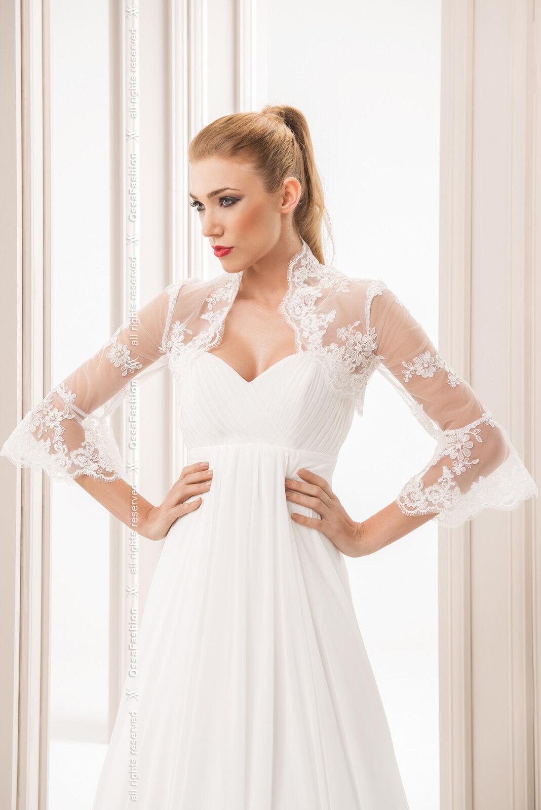 New Women Wedding Ivory / White Top Bridal Lace Bolero/Shrug/Jacket ...