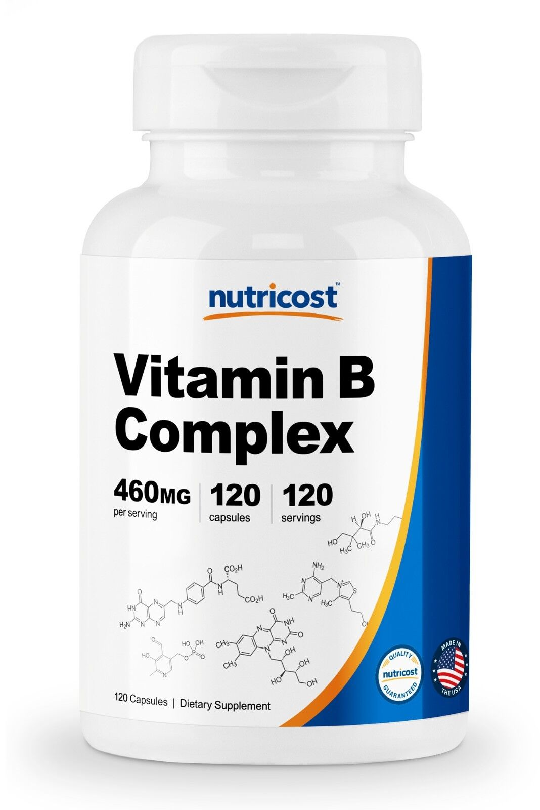 Nutricost High Potency Vitamin B Complex 460mg, 120 Capsules