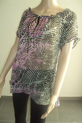 T-SHIRT/BLOUSE/TOP - blouse voile semi-opaque BIAGGINI T 44 - TB état