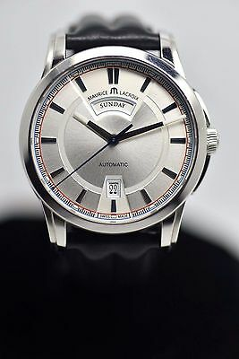 Maurice Lacroix Pontos Day & Date Silver Dial Automatic Mens Watch ref. PT 6158