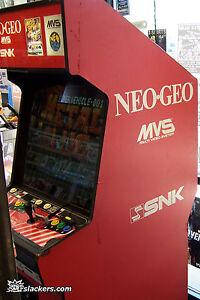 2-Slot-Neo-Geo-Arcade-Machine-w-Metal-Slug-Aerofighters-2-GREAT-SHAPE-LOOK