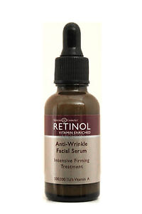 SKINCARE COSMETICS RETINOL VITAMIN ENRICHED ANTI-WRINKLE FACIAL SERUM 1 FL. OZ.