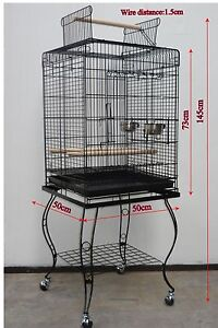 Brand New Bird Cage Parrot Aviary Open Roof 145cm – 901