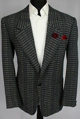 Versace Tweed Blazer Jacket Grey 40R FANTASTIC UNIQUE GARMENT 3025