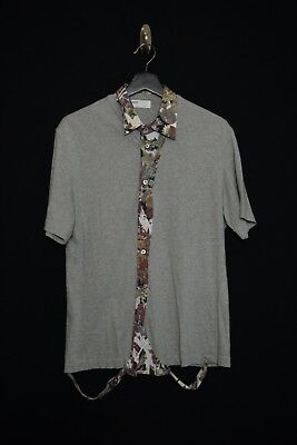 HUSSEIN CHALAYAN  Deconstructed Floral Shirt vintage archive