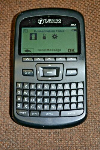 Turning Technologies QT2 Response Device RCQR-02 Clicker QWERTY + Box EXCELLENT