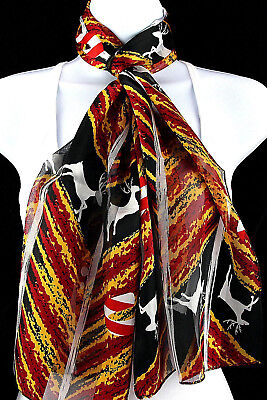 Candy Cane Reindeer Women's Scarf Christmas Fashion Holiday Red Black Scarves - Candy Cane Scarf