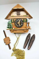 River City 38-06 Tree, Mushroom and Water Pump Cottage Cuckoo Clock – OPEN BOX