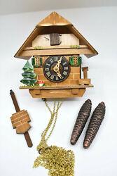 River City 38-06 Tree, Mushroom and Water Pump Cottage Cuckoo Clock – OPEN BOX