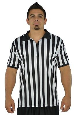 Mens Referee Shirts/Umpire Jersey with Collar for Officiating + Costumes + More!