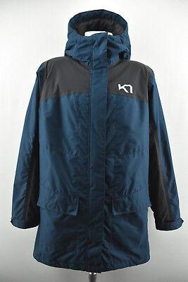 KARI TRAA Womens Jacket Outdoor Protected Hooded Long Zipped Coat Size L