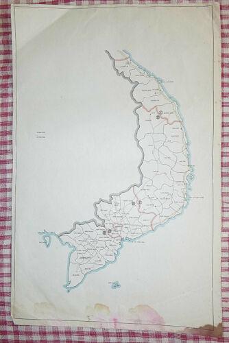 MAP - CTZ - CORPS MILITARY TACTICAL ZONES and PROVINCES  - Vietnam War - SAIGON