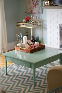 Teal blue coffee table