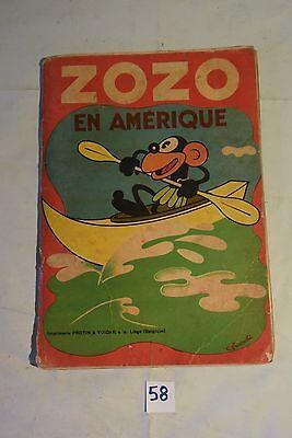 C58 Ancienne BD Zozo en Amérique de René Touret 1935