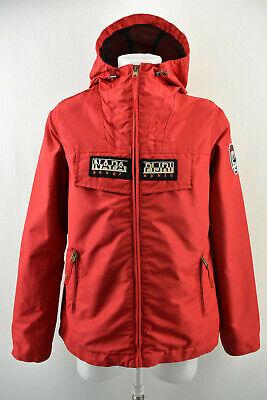NAPAPIJRI Geographic Womens Jacket Outdoor Zip Neck Hooded Waterproof Coat Sz XL