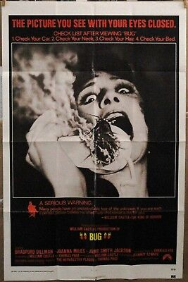 """BUG"" ORIGINAL 1975 27X41 Horror Movie Poster *Bradford Dillman*Joanna Miles*"