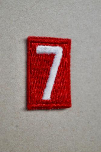 BSA #7 Red White Uniform Troop Number Cub Boy Scouts of America Uniform Shirt