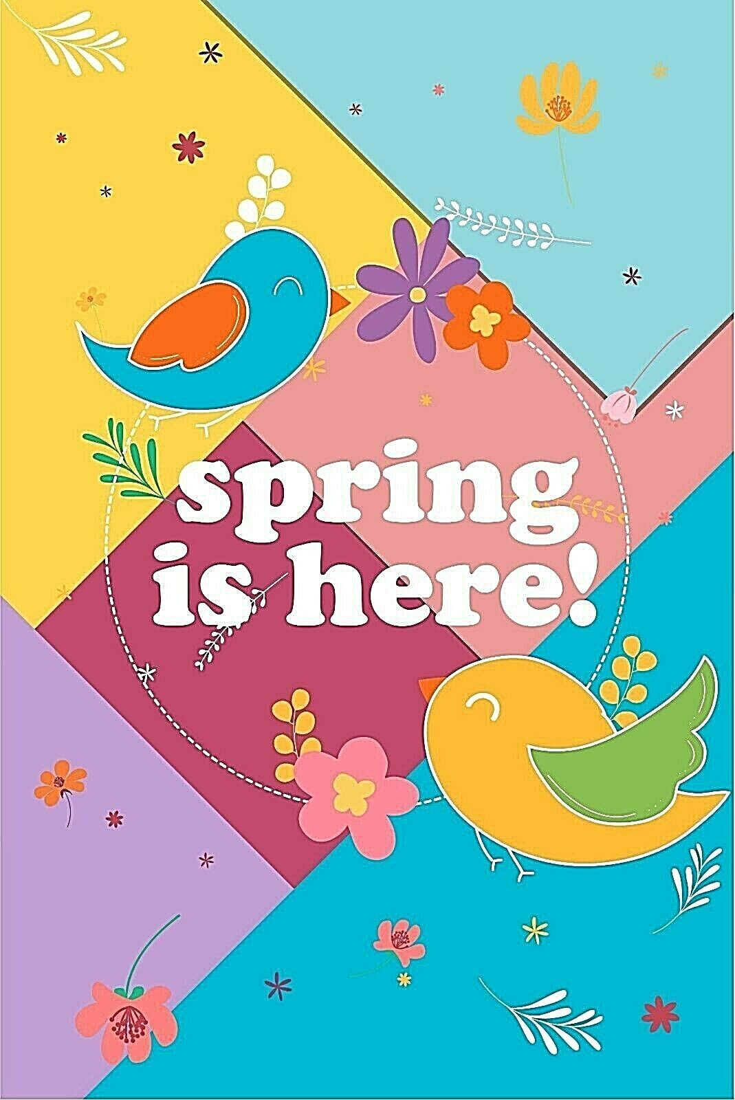Welcome Spring Garden Flag Outdoor Banner 12x18 2-Sided Heav