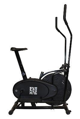 F4H Olympic 125 2in1 Elliptical Cross Trainer Exercise Bike (All Black Model)