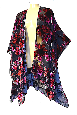 TS cape TAKING SHAPE One Size Fits All 'Garden Party' velvety sheer light NWT!