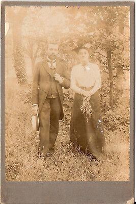 CAB Foto Feines Paar - Frankreich 1900er