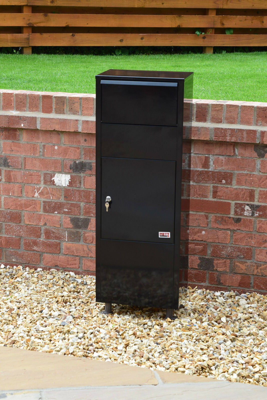 11 Metz Large Black Letter Box Post Box Mail Letterbox