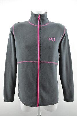 KARI TRAA Womens Fleece Zip Neck Jacket Long Sleeve Lightweight Top Size L