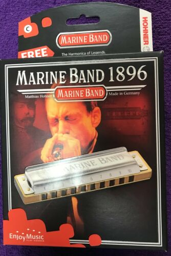 Harmonica Hohner Marine Band 1896, key of A (new)