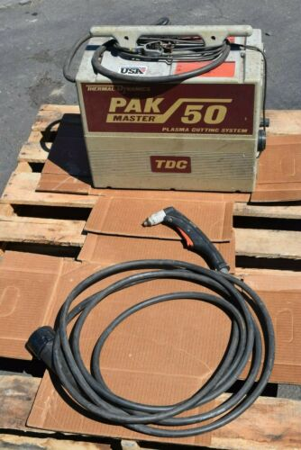 "THERMAL DYNAMICS MASTER PAK 50 PLASMA CUTTING SYSTEM 1/2"" CAP 90° TORCH GUARANTE"