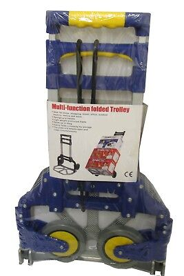 ALUMINIUM FOLDING HAND SACK TRUCK LUGGAGE TROLLEY lightweight only weighs 3kgs
